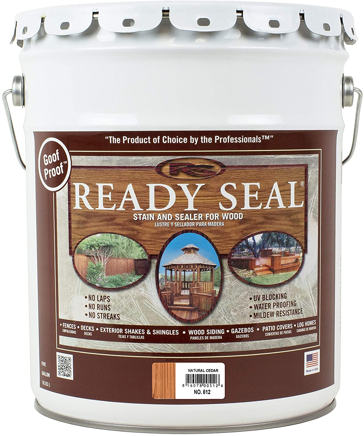 Ready Seal Pail Natural Cedar Exterior Stain