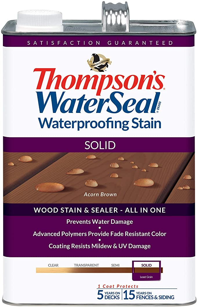 Thompson's WaterSeal Solid Stain, Woodland Cedar
