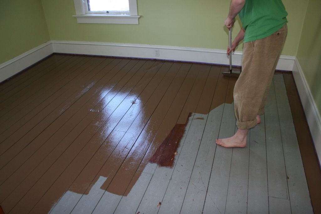 paint for hardwood floor
