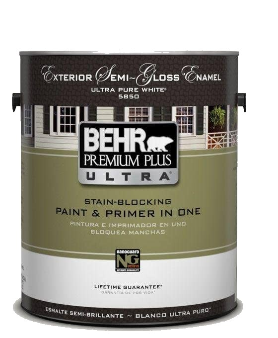 BEHR Premium Plus Ultra Semi-Gloss Enamel Exterior Paint
