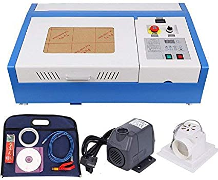 Ridgeyard Co2 40W Laser Engraving Machine 12x8 inch CO2 USB Port Laser Cutting Cutter Engraving DIY Cutter Crafts with Water Pump Upgrade