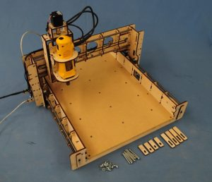 BobsCNC Evolution 3 CNC Router Kit with the Router