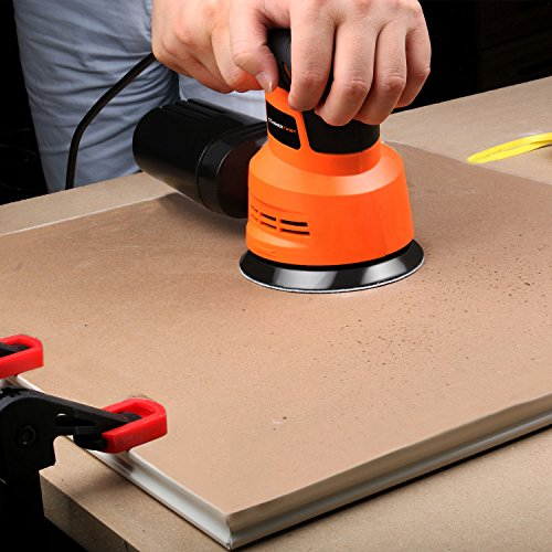 Enertwist Cordless Orbital Sander, 20V Max 5-Inch Brushless Random Orbit Sander with 4.0Ah Lithium-ion Battery and Charger, Including Dust Bag and 9-Pieces
