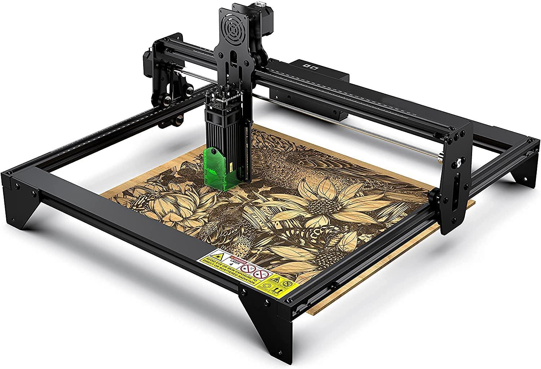 Laser Engraver 20W A5, Laser Engraving Cutting Machine CNC, Eye Protection 5000mw