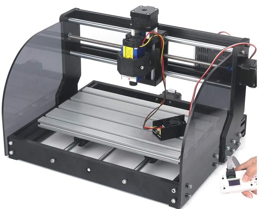 MYSWEETY 2 in 1 7000mW CNC 3018Pro-M Engraver Machine, GRBL Control 3 Axis Mni DIY CNC Router