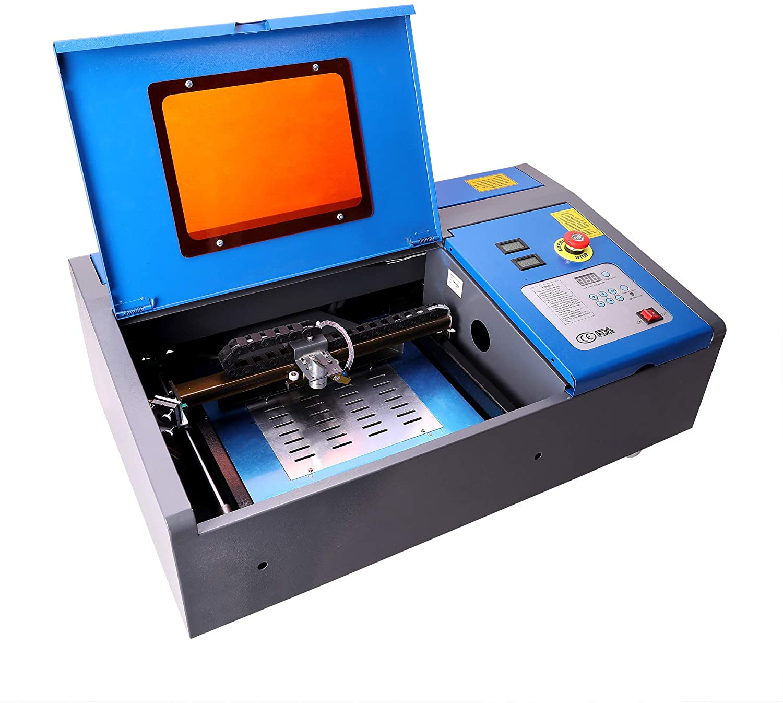 OMTech 40W CO2 Laser Engraver Cutter with 8 x 12in Work Area, Desktop K40 Laser Engraving Machine