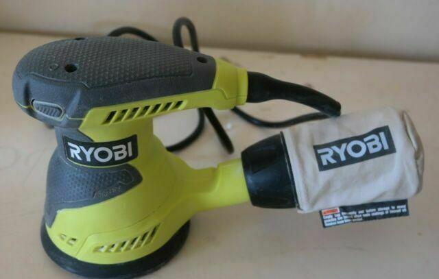 Ryobi RS290G 2.6 Amp 12,500 OPM Single Speed 5 Inch Hook and Loop Corded Random Orbit Sander