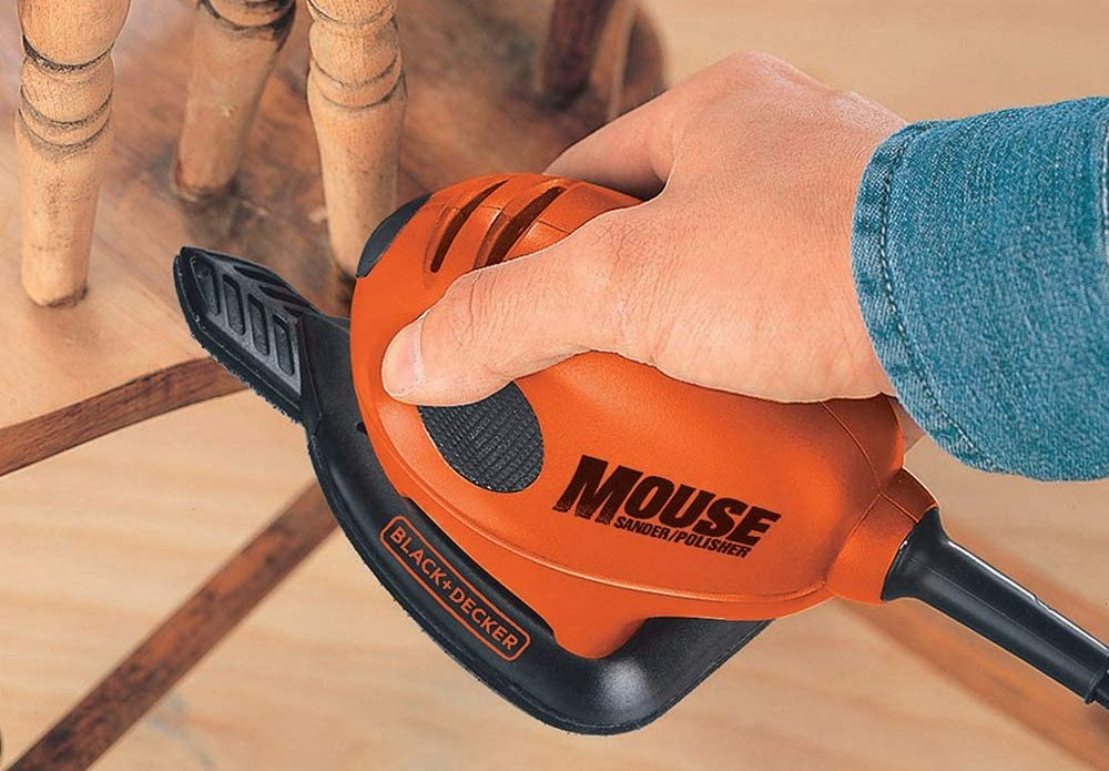 BLACK+DECKER 55 W Detail Mouse Electric Sander with Removable